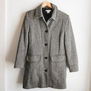 Isaac Mizrahi 100% Wool Herringbone Jacket